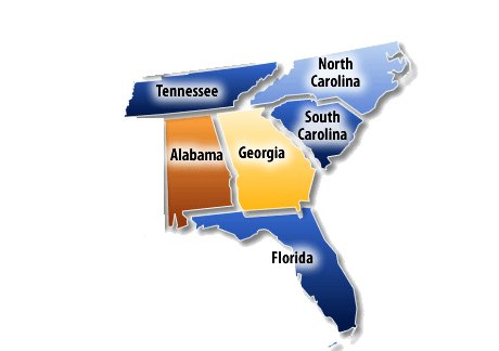 Tennessee, Alabama, Florida, North Carolina, South Carolina,Georgia, Metalworking Fluids